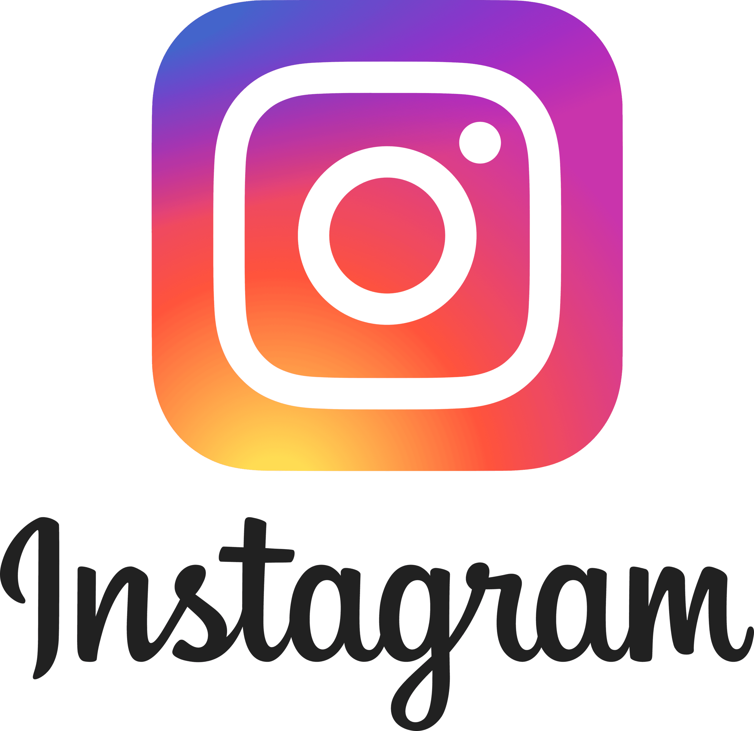 Instagram Text and Logo PNG