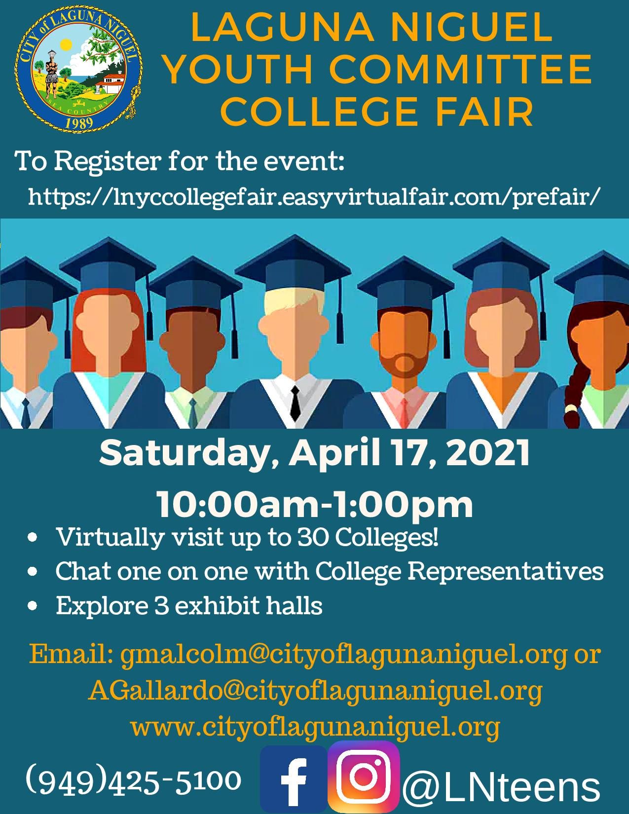 Laguna Niguel Youth Committee College Fair Flyer