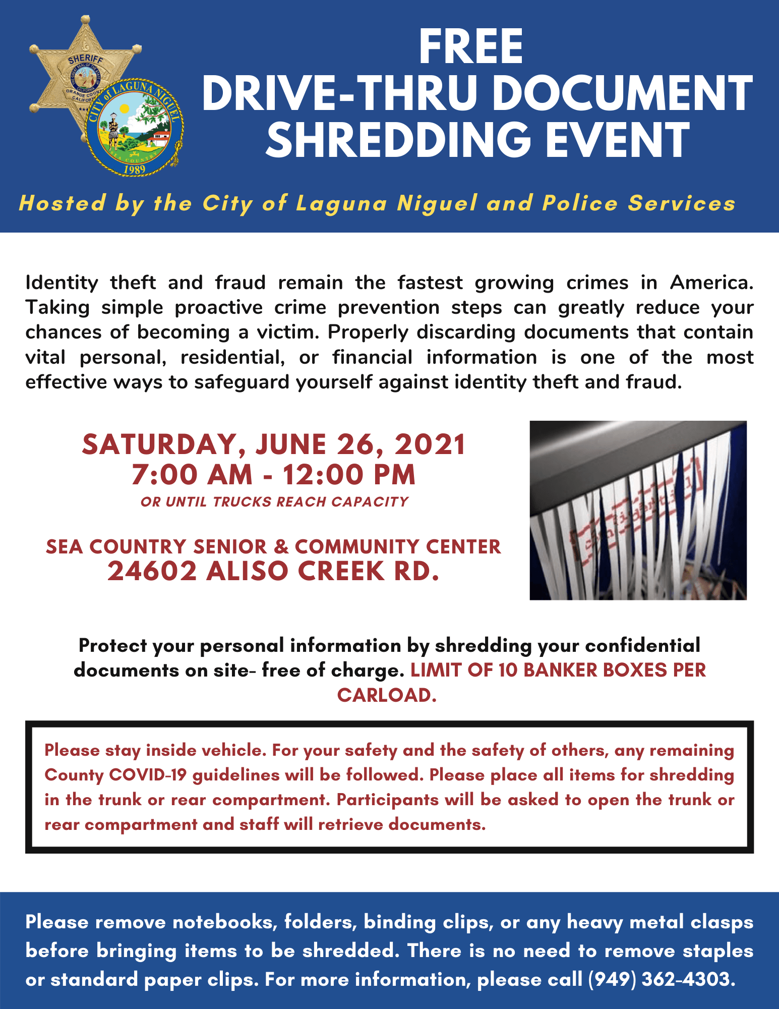 Shred Event on June 26, 2021